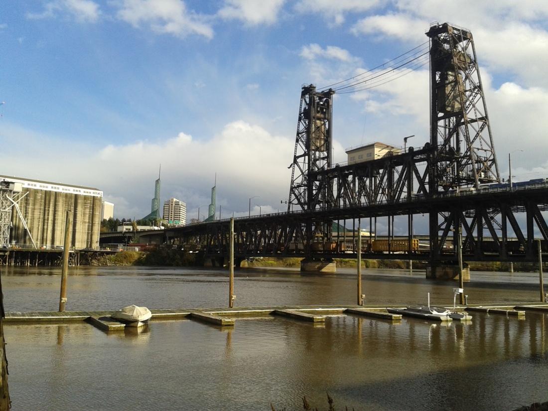 steel bridge portland oregon   michelle hy